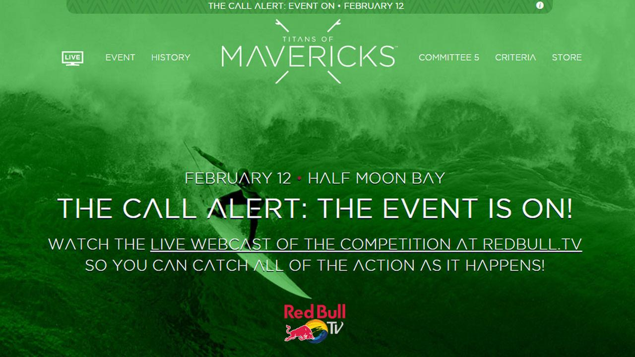 Titans of Mavericks surf competition to begin on Friday, February 9, 2016.