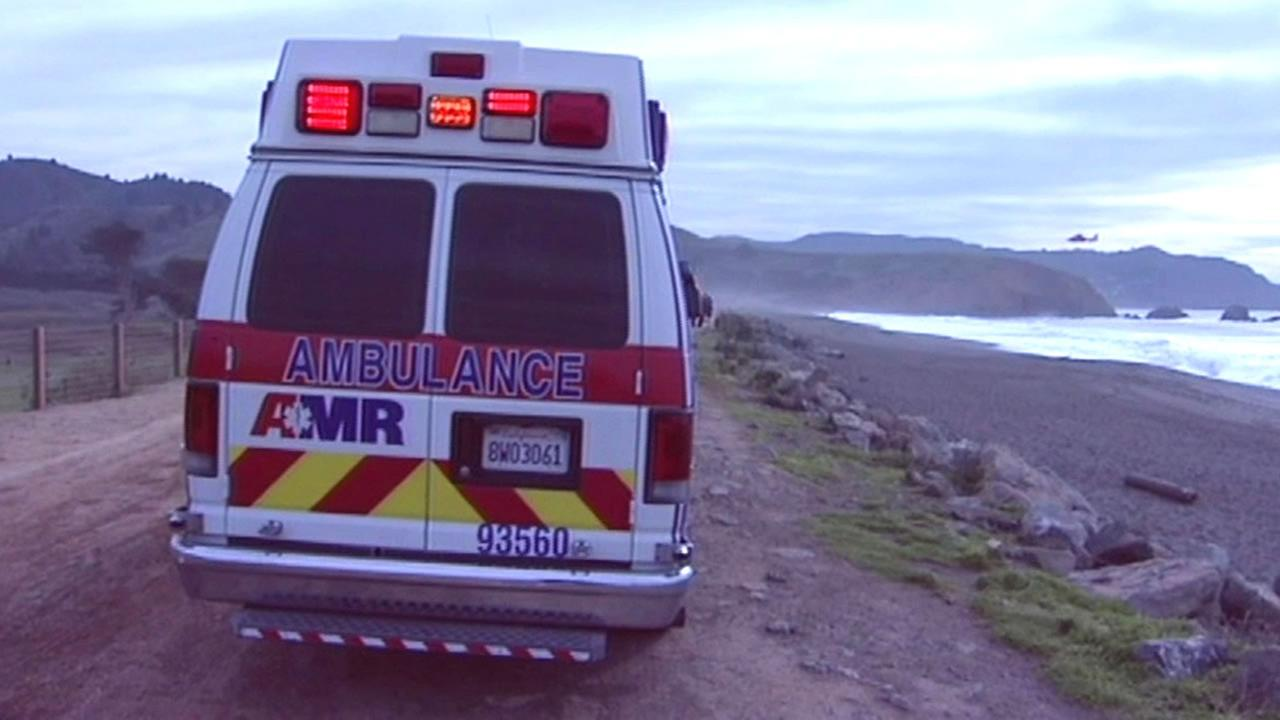 Ambulance at Sharp Park Beach in Pacificia