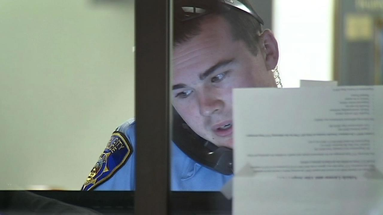 Daly City police officer on the phone