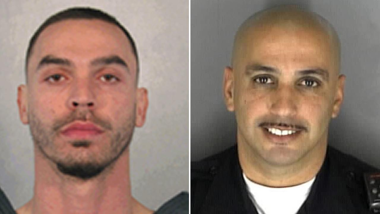 Robert Vega, left, is accused of killing an off-duty Richmond police officer, Gus Vegas.