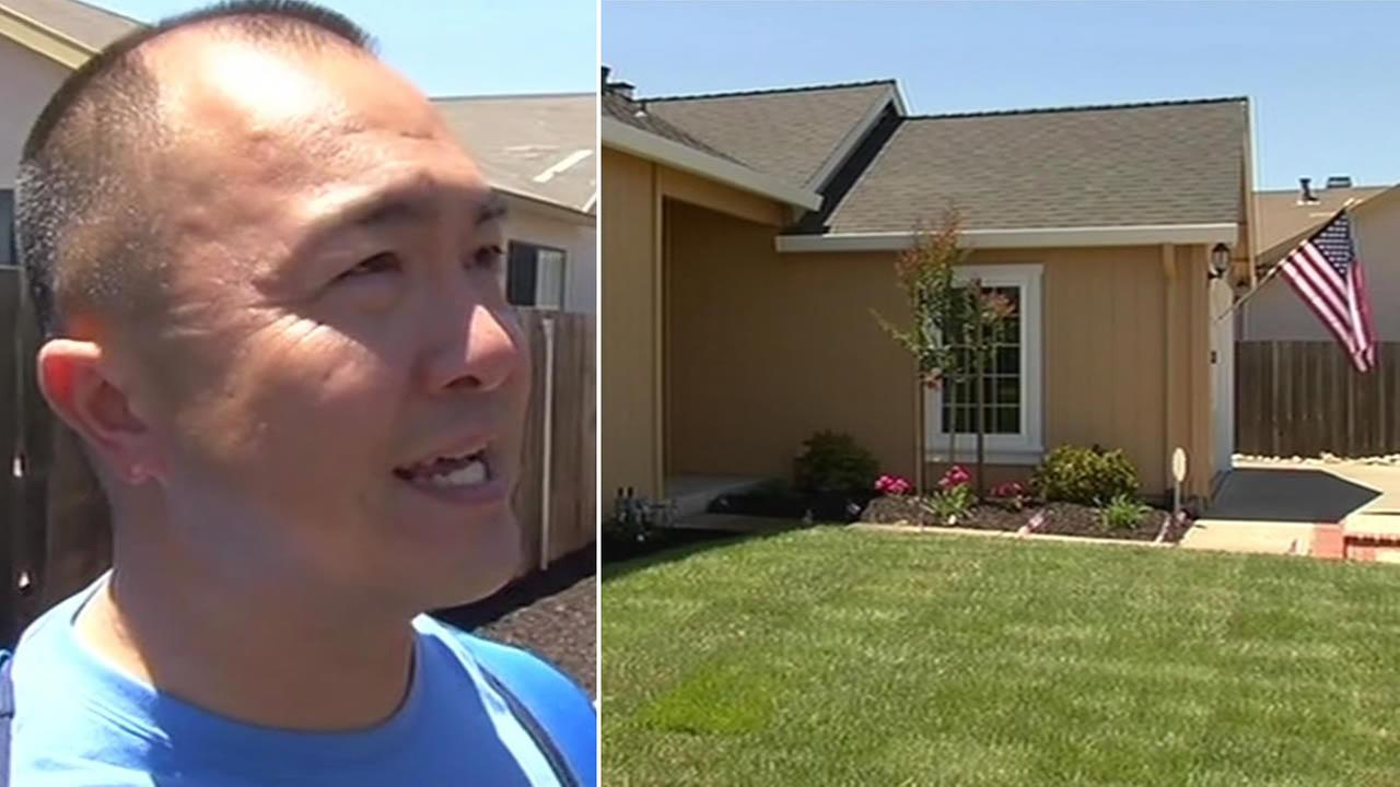 Newly retired Marine Corps Master Sgt. Jacinto Bernardo returns home to a refurbished house in Suisun City.