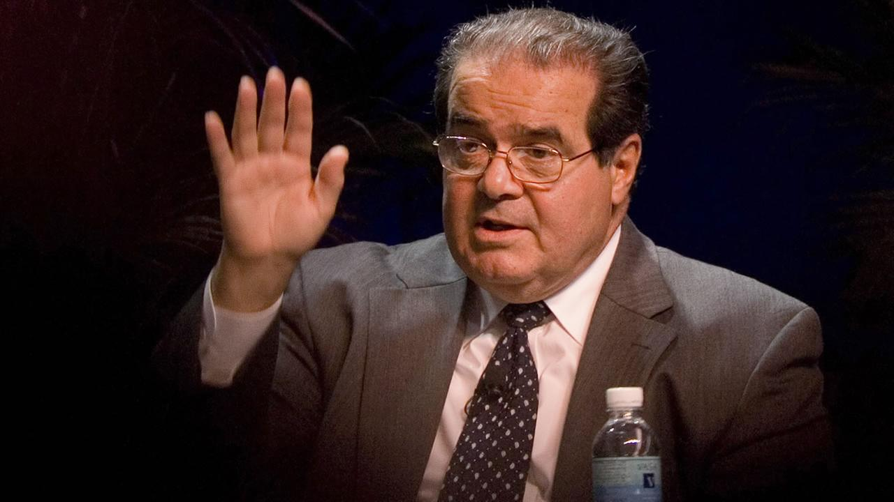 In this Oct., 15, 2006 file photo, Supreme Court Associate Justice Antonin Scalia speaks at the ACLU Membership Conference in Washington.