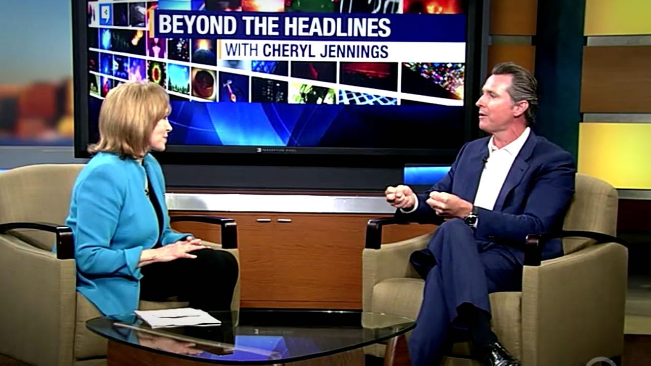 This undated image shows California Lieutenant Governor Gavin Newsom, who spoke with ABC7s Cheryl Jennings about dyslexia.