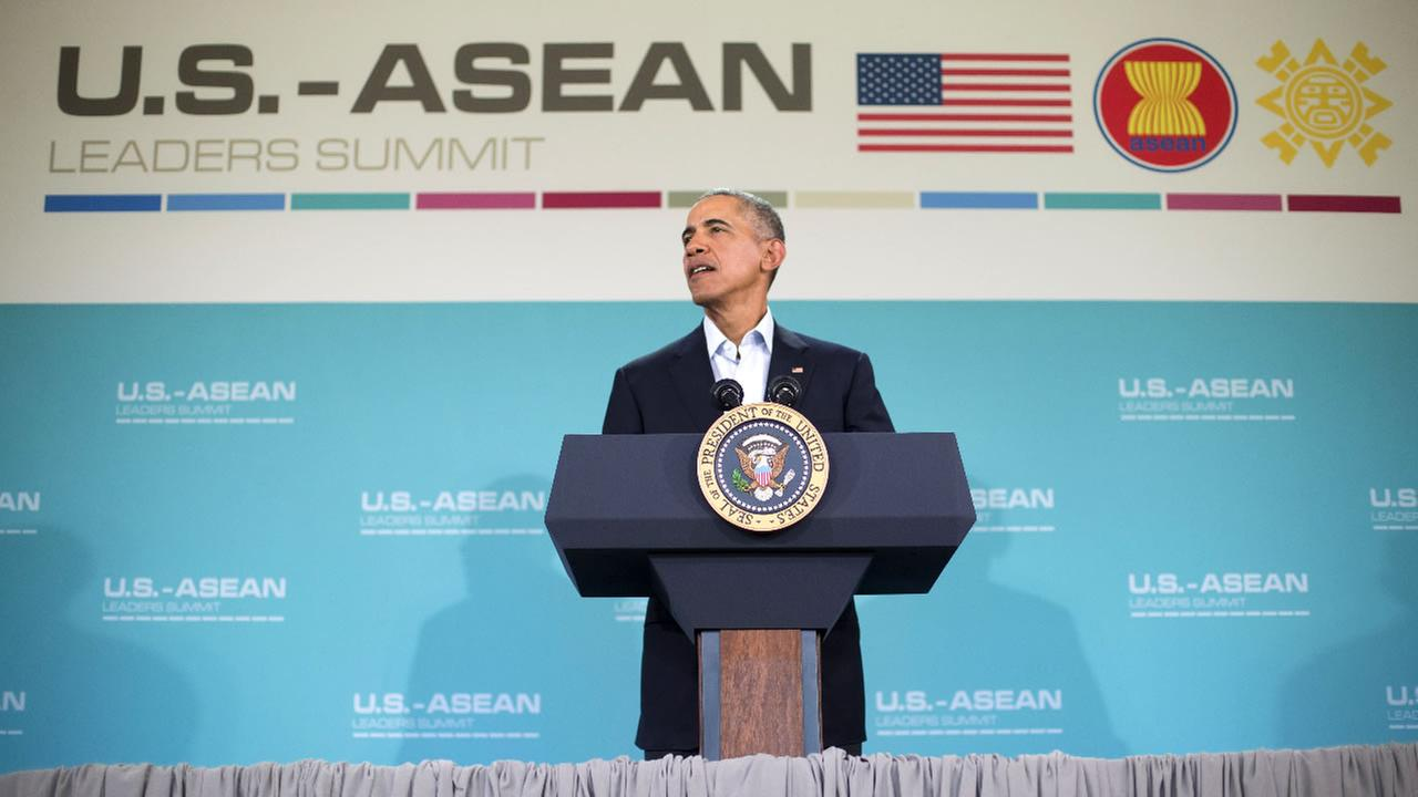 President Barack Obama speaks at a news conference following the conclusion of the U.S.-Association of Southeast Asian Nations (ASEAN)   in Rancho Mirage, Calif., Feb. 16, 2016.