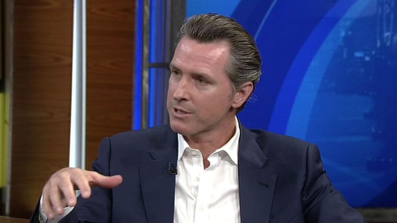 Lt. Governor Gavin Newsom spoke with ABC7 News Cheryl Jennings