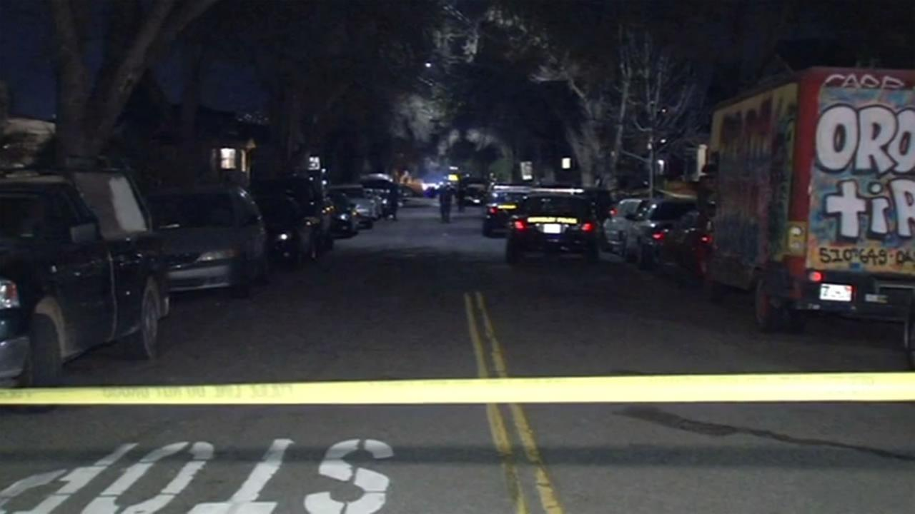 Police are on the scene after three teenagers were shot in Berkeley, Calif. on Tuesday, February 16, 2016.