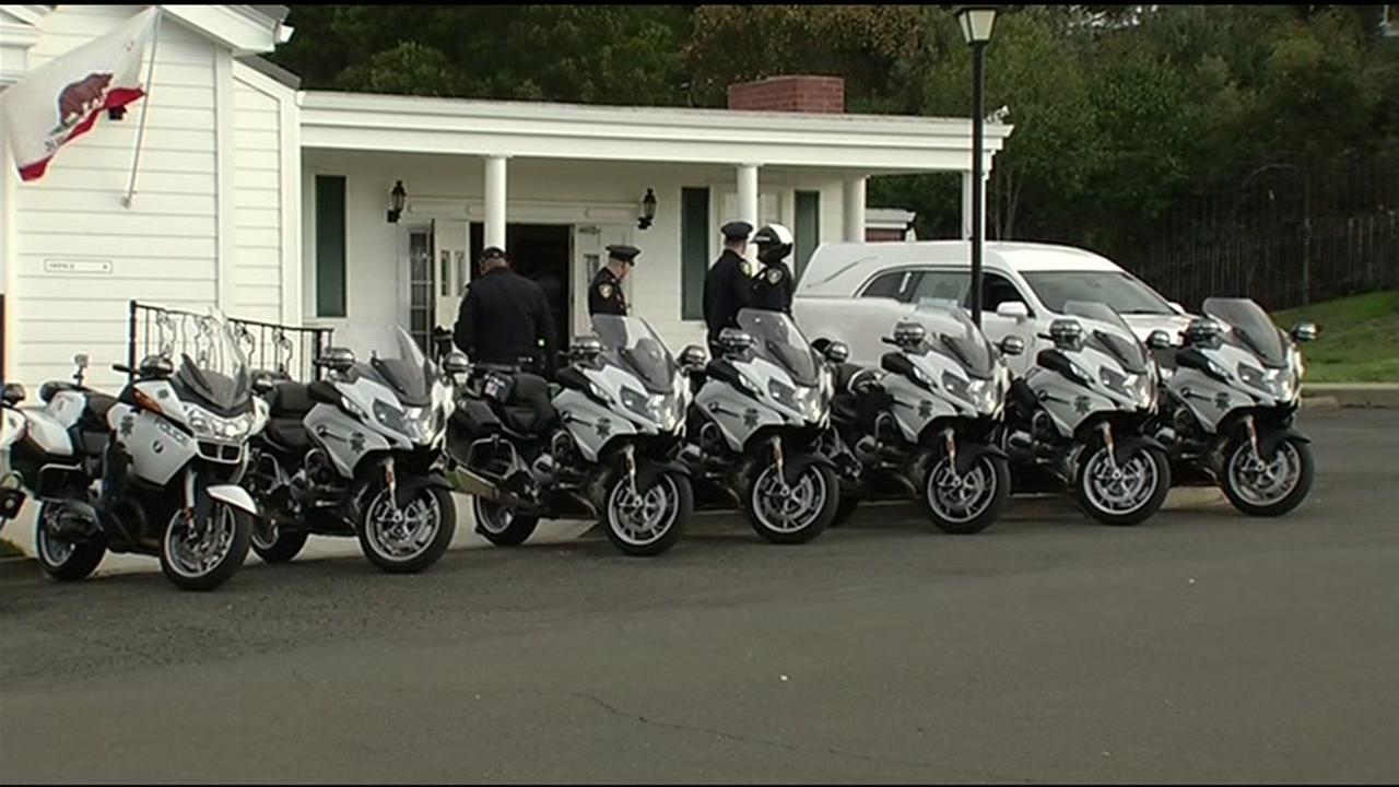 A public memorial is being held on Friday, February 19, 2016 for Officer Gus Vegas in Richmond, Calif. KGO-TV