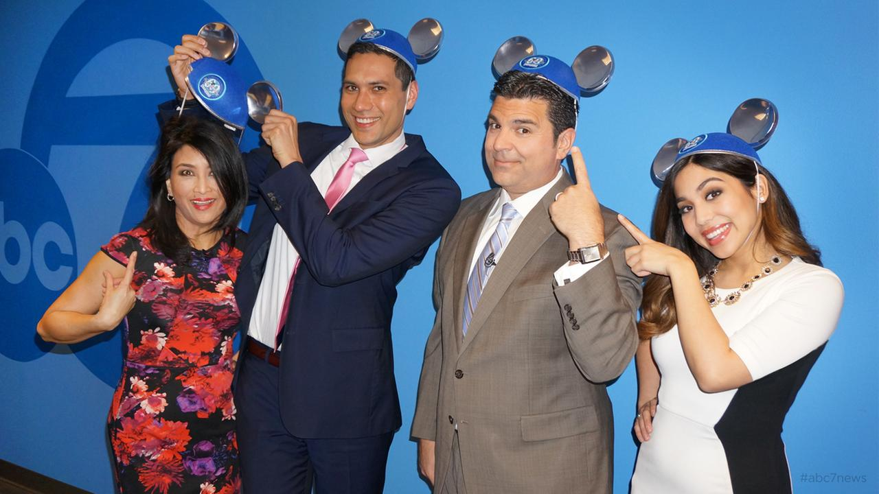 WERE ALL EARS!  The ABC7 Morning News Team have their ears, as part of the magical celebration of Disneylands 60!
