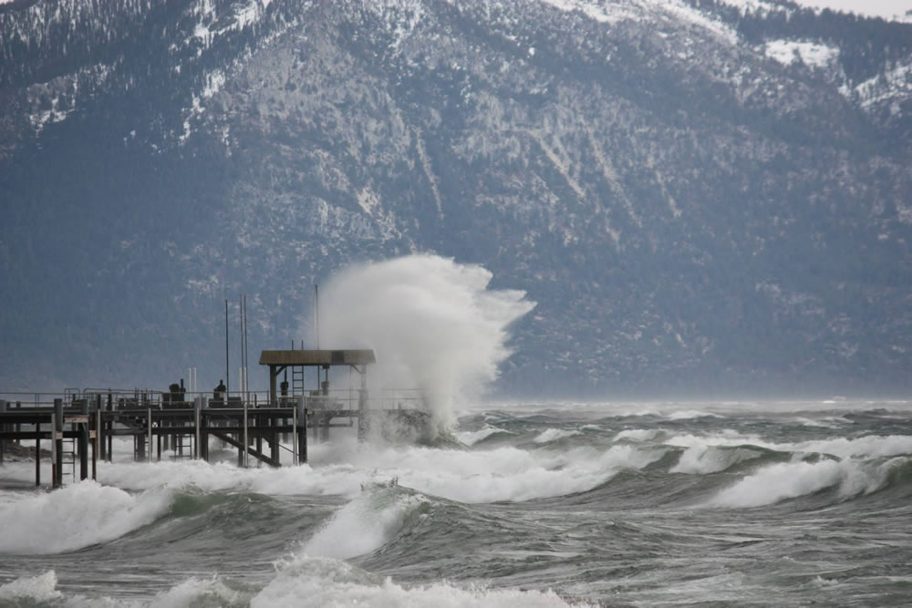 Photos Severe Storm Creates Ideal Surfing Conditions In