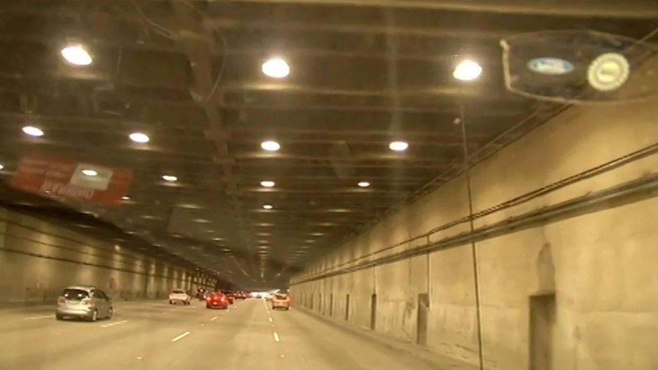 FILE -- Yerba Buena Island Tunnel on Bay Bridge.