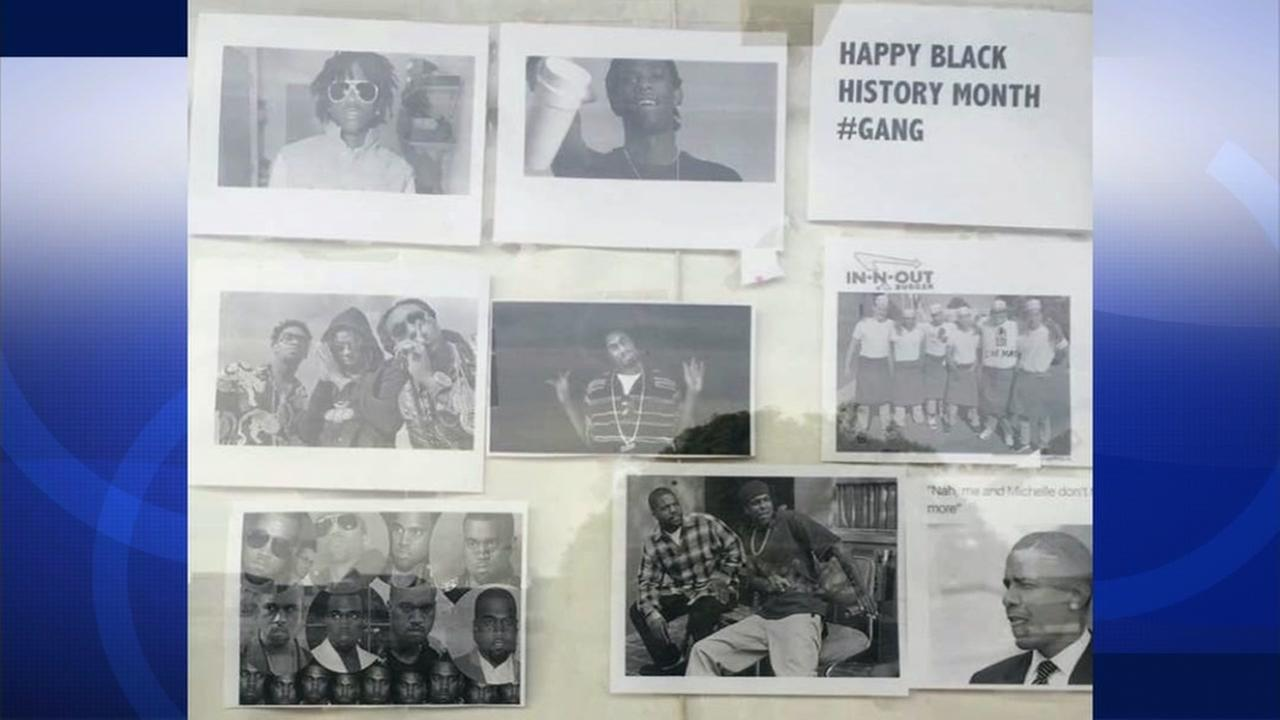 This undated image shows a poster meant to honor Black History Month at Lowell High School in San Francisco.