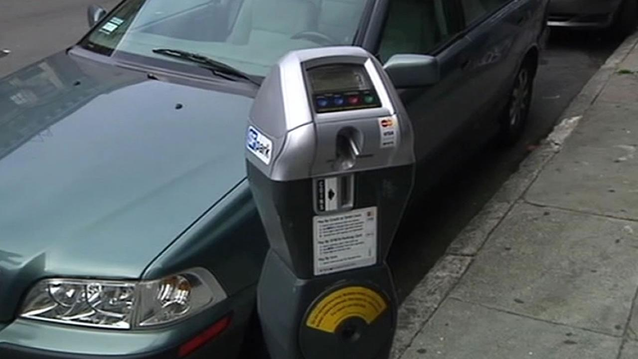 A parking meter in San Francisco.