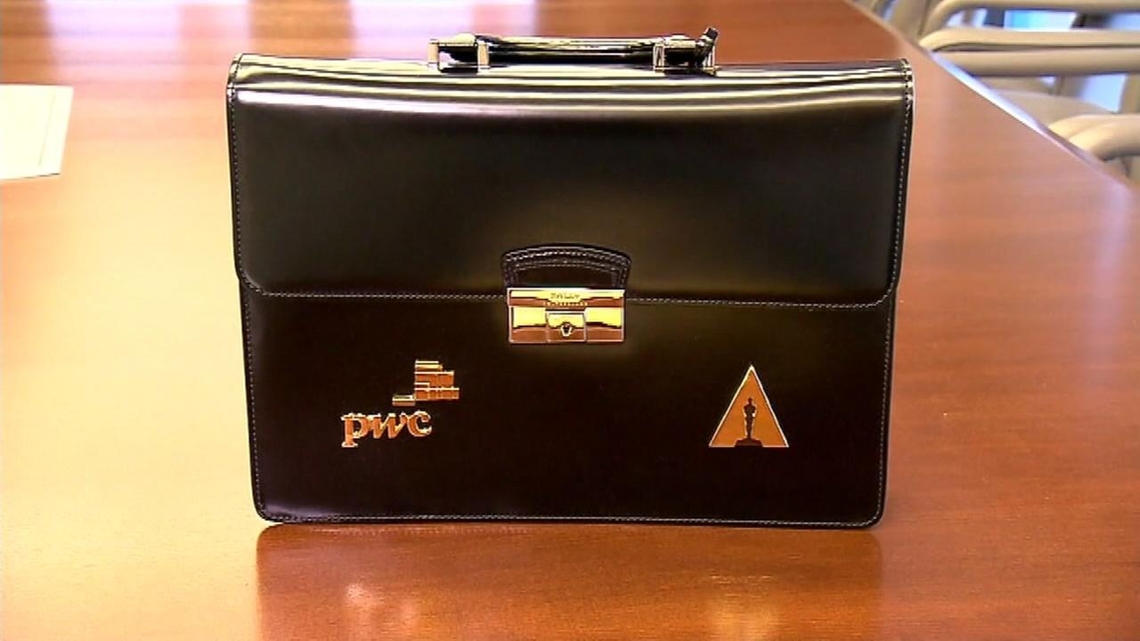 This undated image shows a PricewaterhouseCoopers briefcase that holds Oscar ballots.