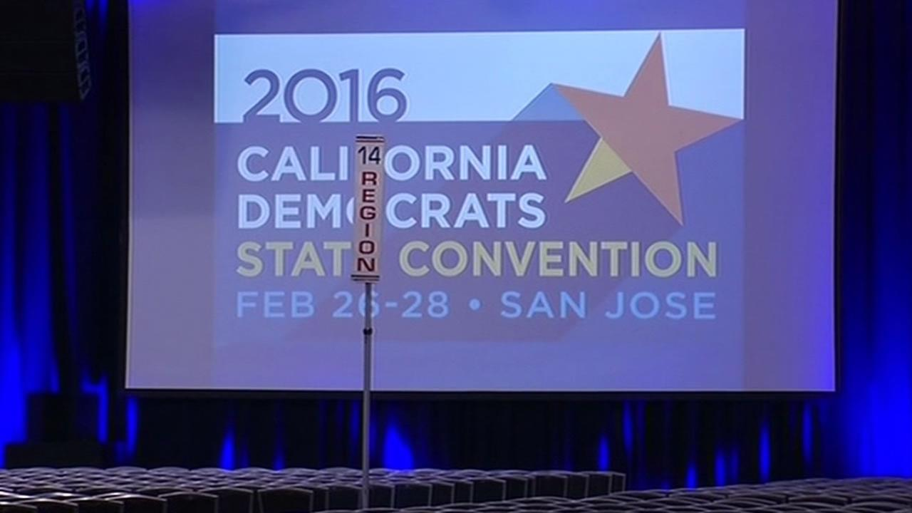 California Democratic Convention sign