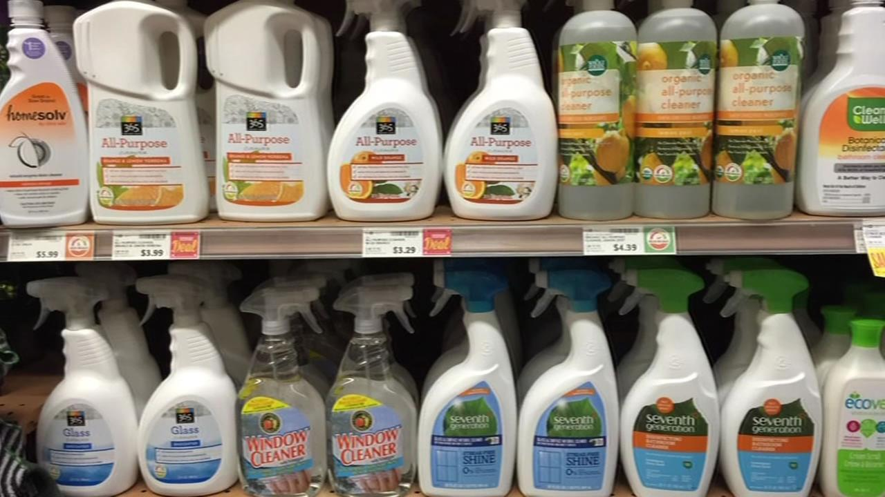 cleaning products at the store
