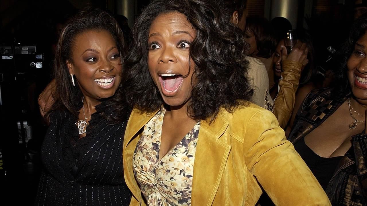 Oprah Winfrey, right, and Star Jones pose at Ebony Magazines Pre-Oscar Salute to Hollywood in Beverly Hills, Calif. on Thursday, Feb. 24, 2005.
