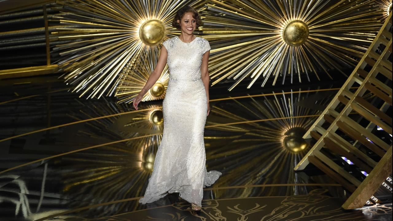 Stacey Dash at the Oscars on Sunday, Feb. 28, 2016, at the Dolby Theatre in Los Angeles.