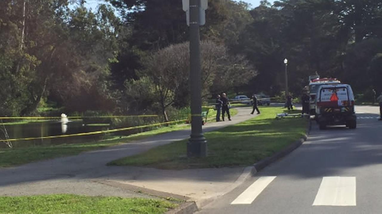 A body was pulled from the lake at Golden Gate Park in San Francisco on Wednesday, February 2, 2016.
