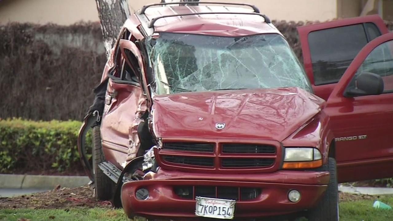 Police are investigating a crash involving multiple vehicles that killed a man in the area of Camden Avenue and Leigh Avenue in San Jose, Calif. on Friday, March 4, 2016.