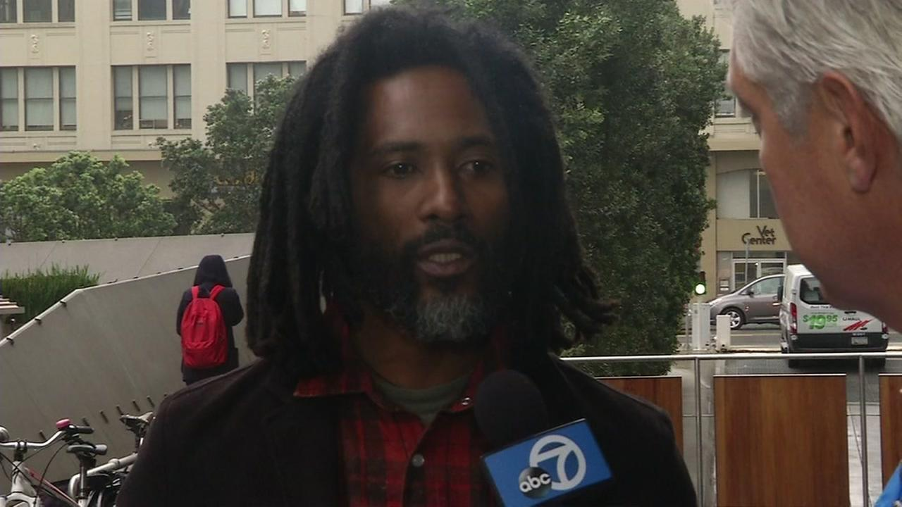 Antonio Theodore talked to I-Team reporter Dan Noyes after testifying during the civil trial in the shooting death of Alex Nieto in San Francisco on Friday, March 4, 2016.