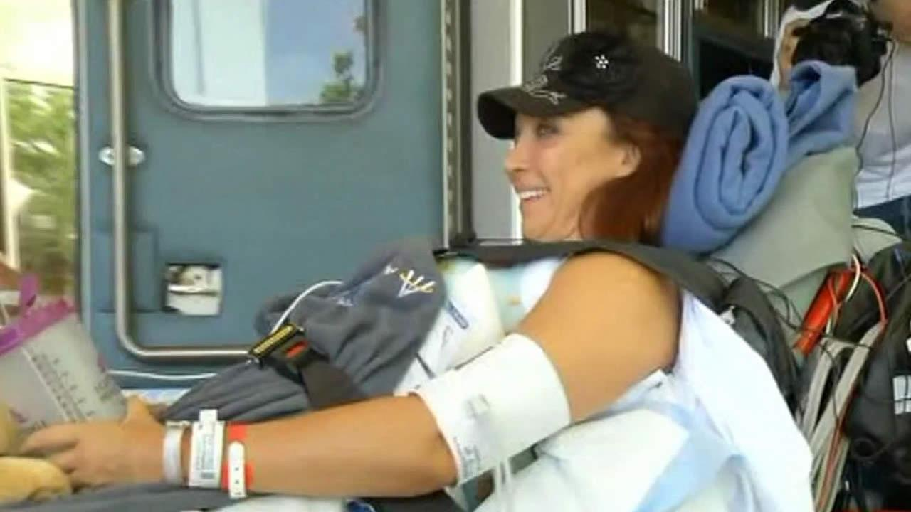 Amy Van Dyken Rouen in Colorado to continue rehab
