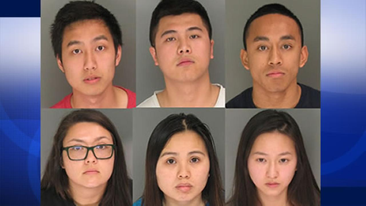 The suspects were identified as Mariah Dremel, Benny Liu, Cesar Casil, Nathan Tieu, Hoai Nguyen, and Cecilia Le, all 21 years old.