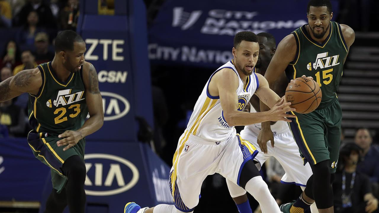 golden state warriors beat utah jazz extending nba record