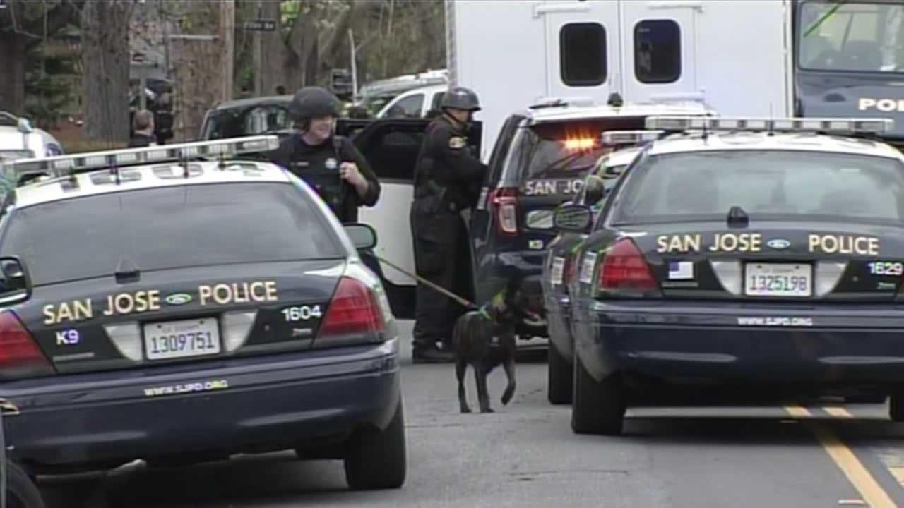 A hostage situation had a huge police response in San Jose, Calif. on Thursday, March 10, 2016.