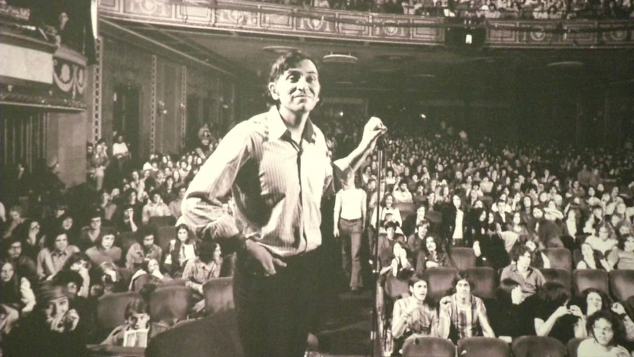 This image shows a photograph of Bill Graham thats on display currently at the Contemporary Jewish Museum in San Francisco through July 5, 2016.