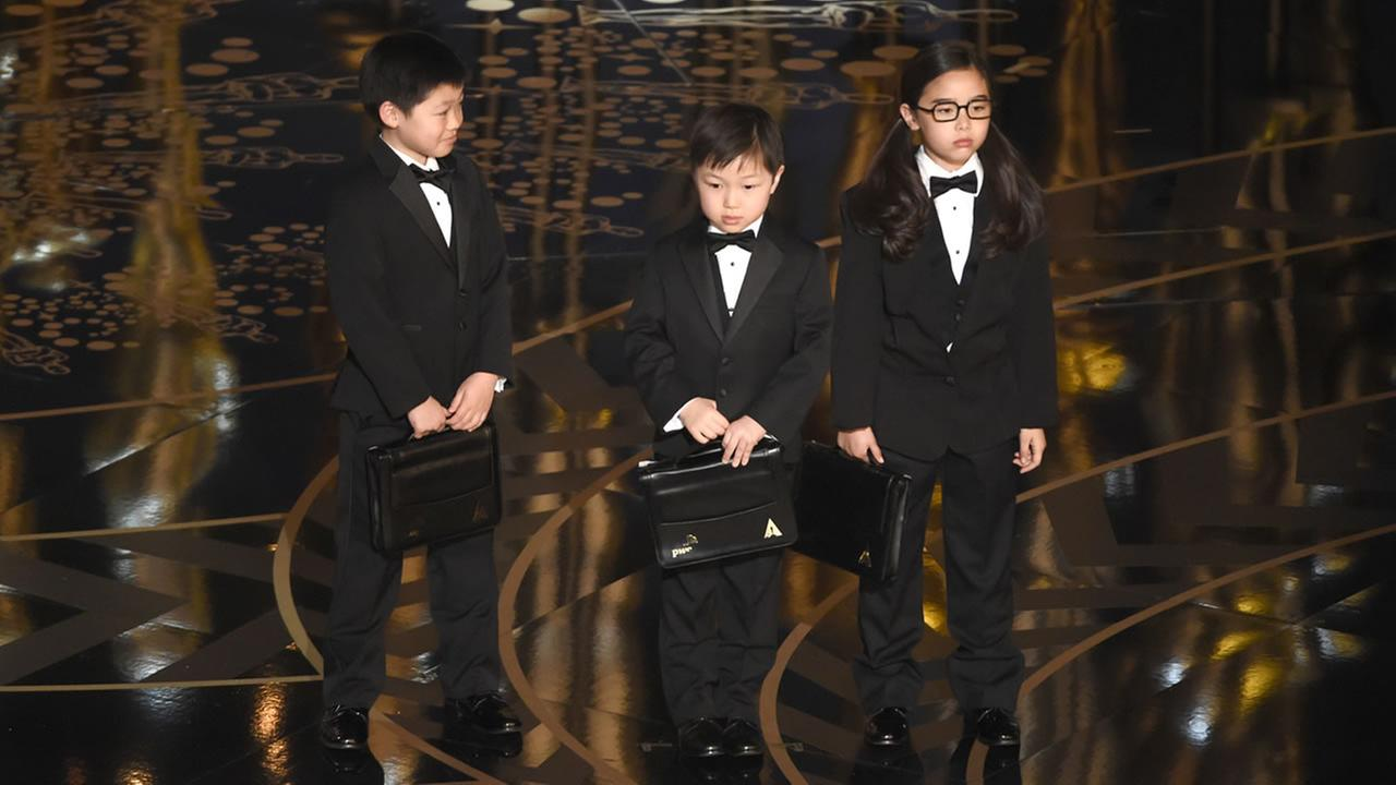 Children participate in a skit at the Oscars on Sunday, Feb. 28, 2016, at the Dolby Theatre in Los Angeles. (Photo by Chris Pizzello/Invision/AP)