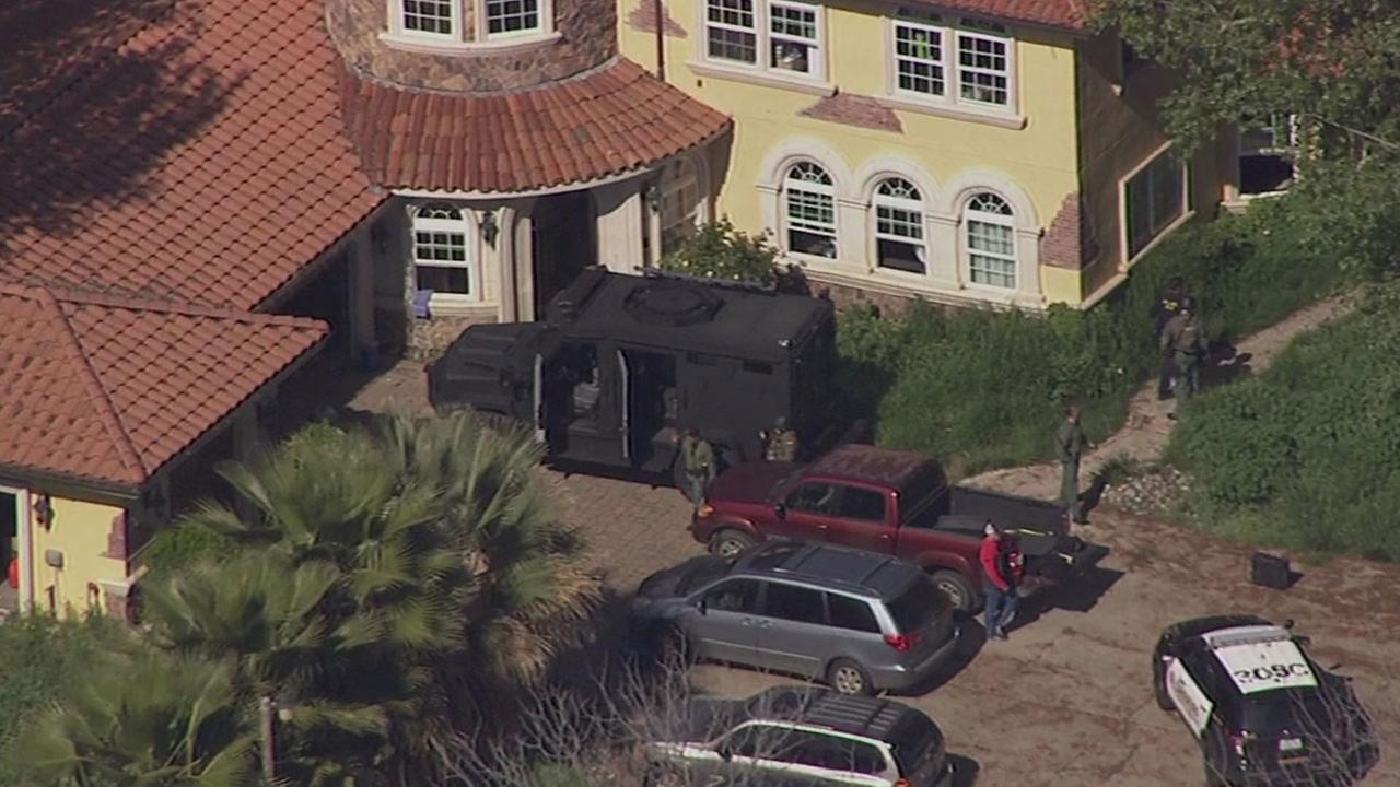 SWAT standoff at home in Byron, California, Friday, March 18, 2016.