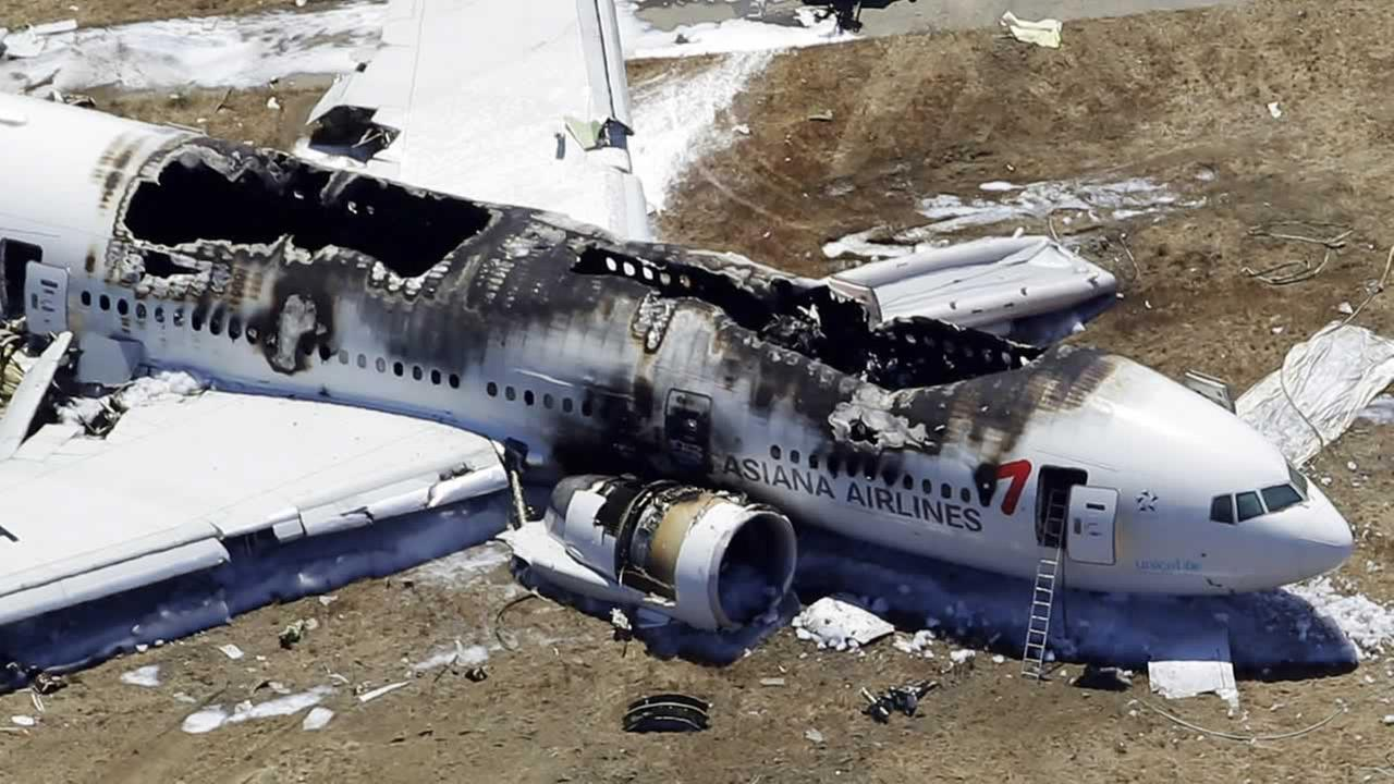 On July 6, 2013, Asiana Flight 214 crashed at SFO.