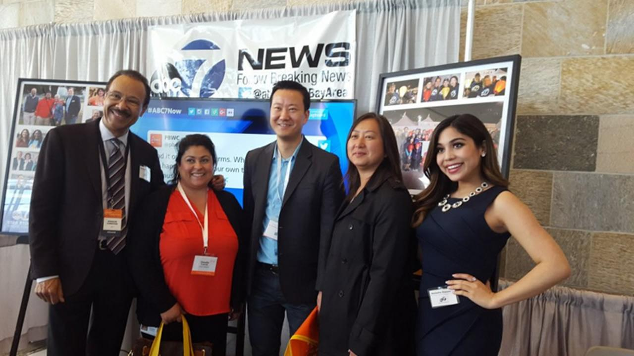 ABC7 News anchors and reporters meeting people at the 27th Annual PBWC Conference in San Francisco.KGO-TV