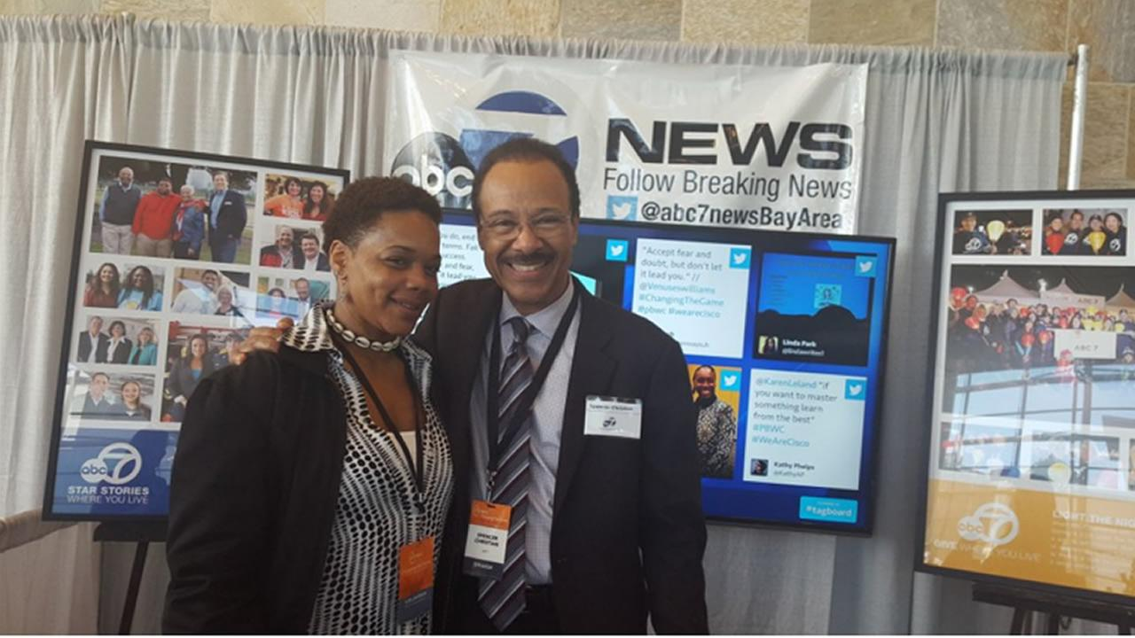 Weather anchor Spencer Christian meeting folks at the 27th Annual PBWC Conference in San Francisco.KGO-TV