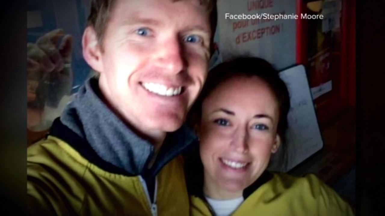 This image shows Tennessee couple Stephanie Shults with her husband Justin Shults. It was confirmed that  Just In Shults was killed in the bombing at the Brussels airport.