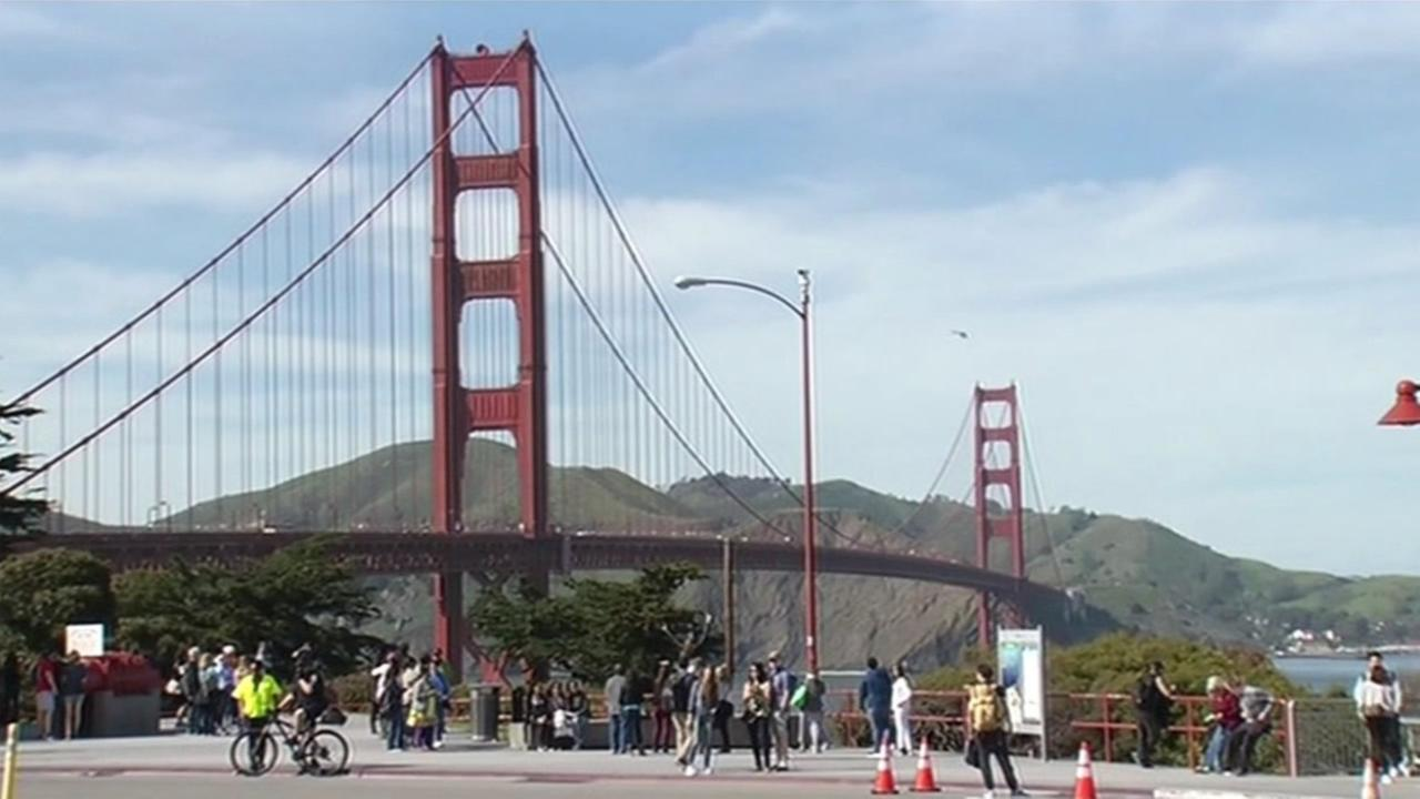 FILE- This image shows the Golden Gate Bridge.