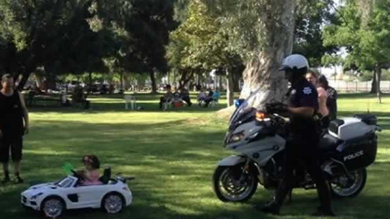 A princess had a run in with police Easter Sunday while driving her convertible sports car.