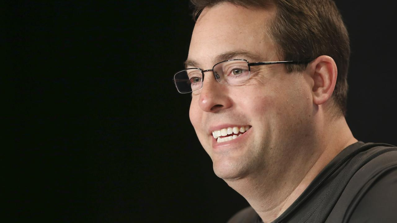 UAB head coach Jerod Haase speaks during a press conference after practice at the NCAA college basketball tournament in Louisville, Ky., Friday, March 20, 2015. (AP Photo)