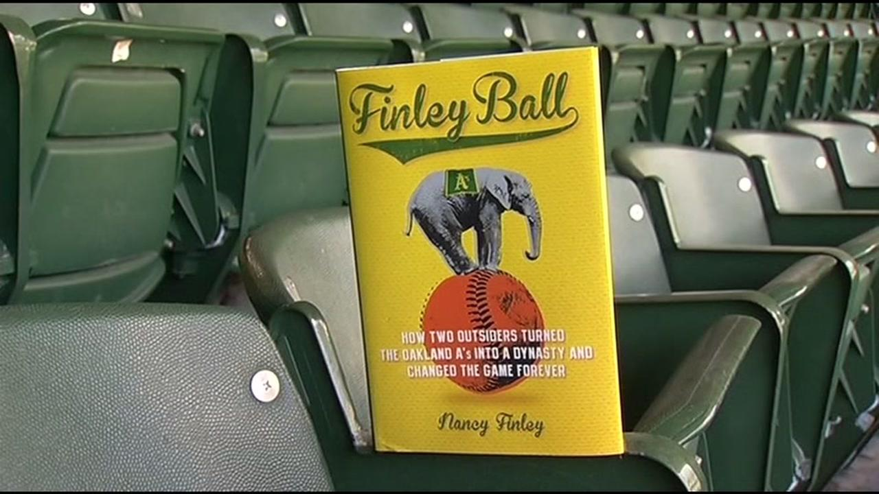 A book cover for Finley Ball is seen in Oakland, Calif. on Monday, March 28, 2016.