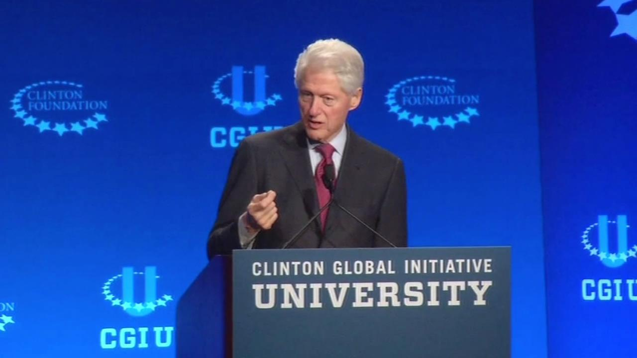 Former President Bill Clinton speaks at the University of California Berkeley April 1, 2016.