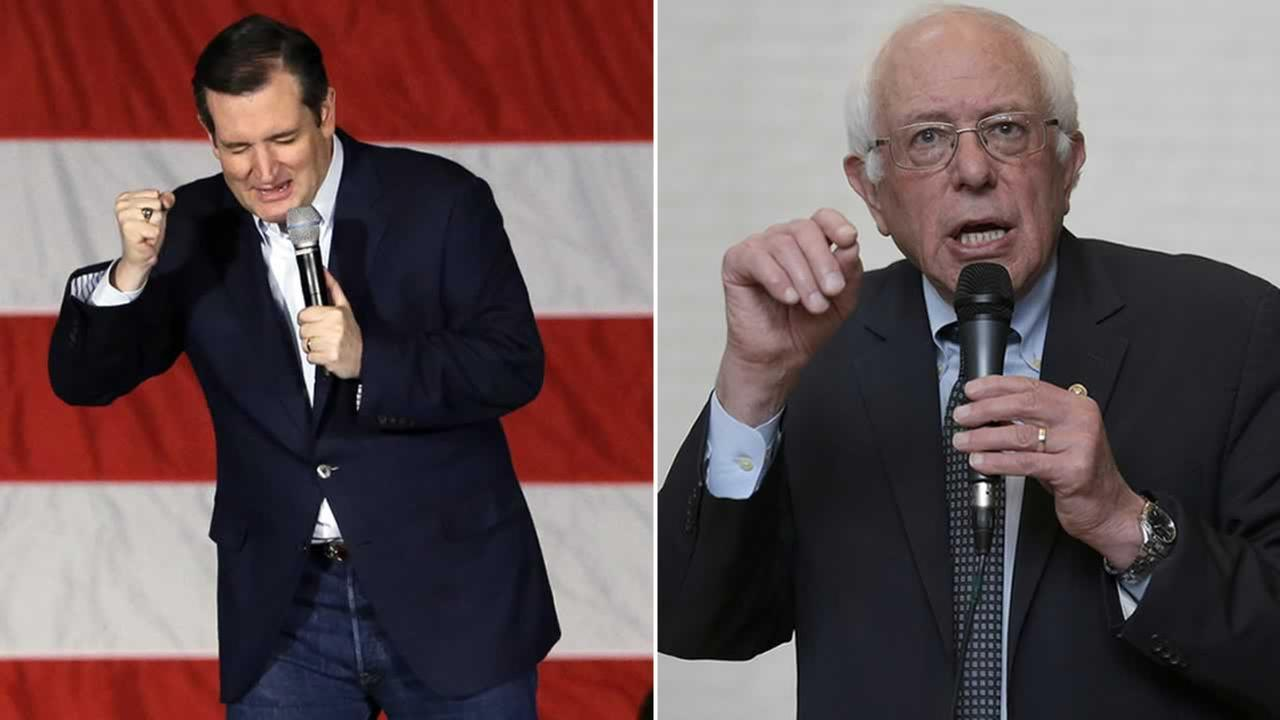 Republican Ted Cruz and Democrat Bernie Sanders are angling for victories in Tuesdays Wisconsin presidential primaries