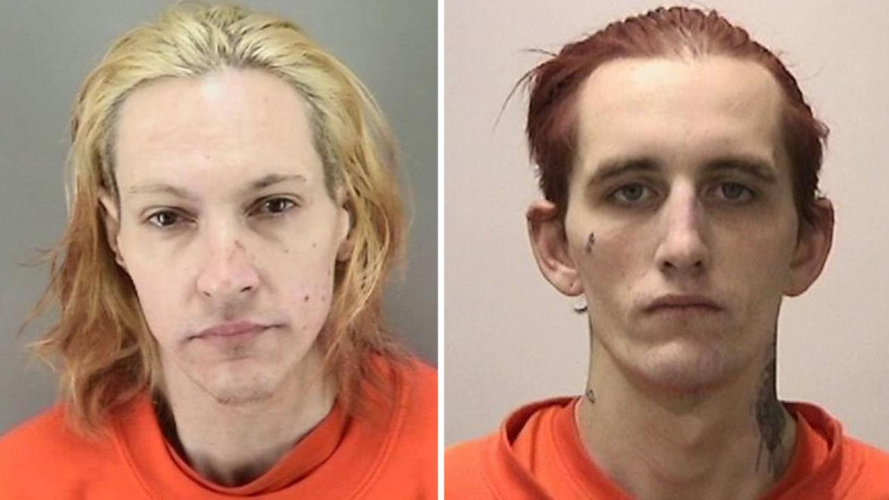 From left to right: Judd Janke, 37, and Nicholas Tiller, 26, were arrested in connection with a burglary at San Franciscos Make-A-Wish Foundation on Saturday, April, 2, 2016.