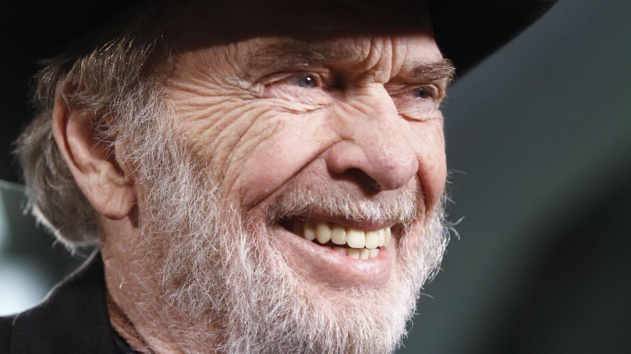 Merle Haggard is interviewed backstage at the All for the Hall concert on Tuesday, April 10, 2012, in Nashville, Tenn. (AP Photo/Wade Payne)