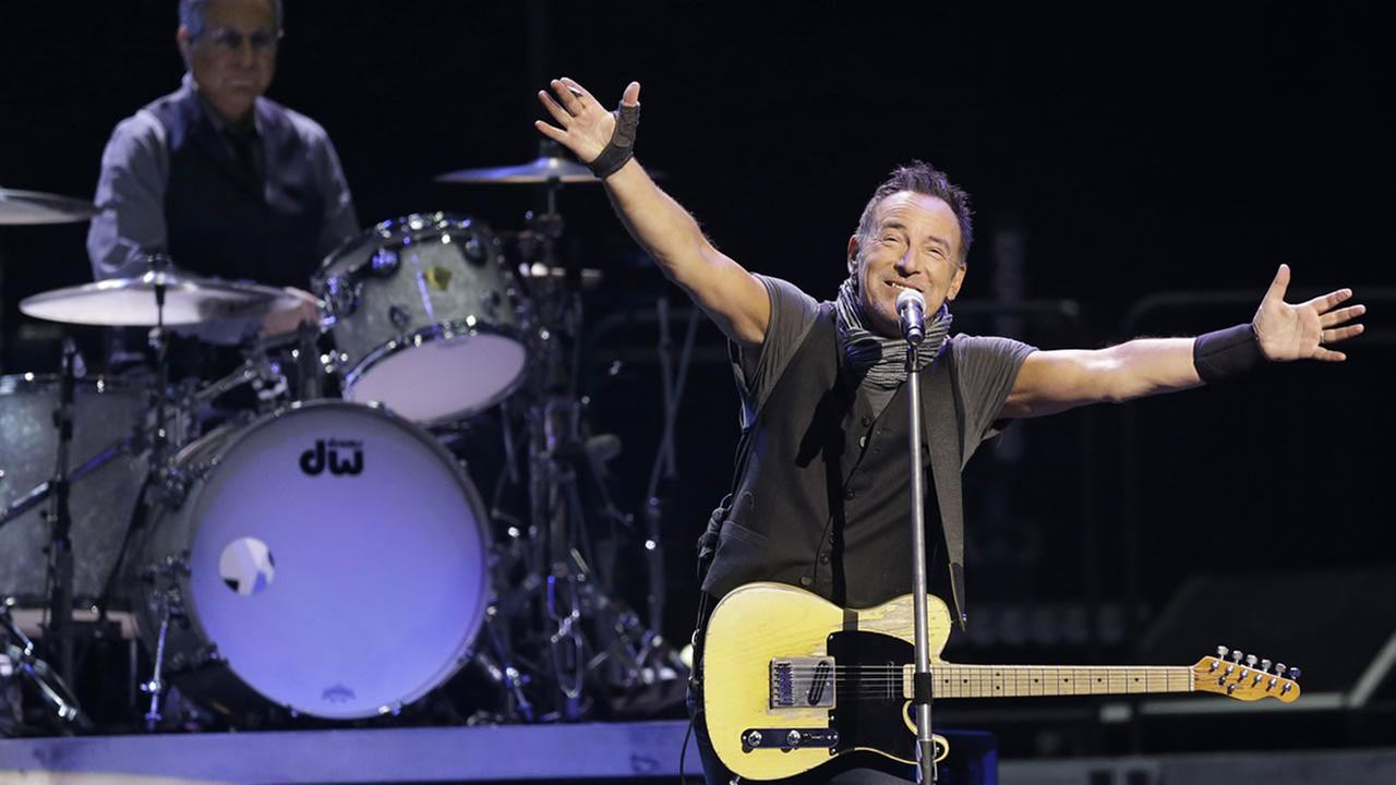 Bruce Springsteen and The E Street Band perform in concert, Tuesday, Feb. 23, 2016, in Cleveland. (AP Photo/Tony Dejak)