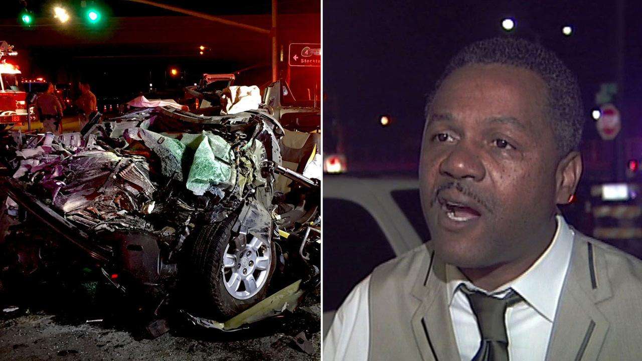 Crash in Antioch and Antioch Mayor Wade Harper, Wednesday, April 13, 2016.