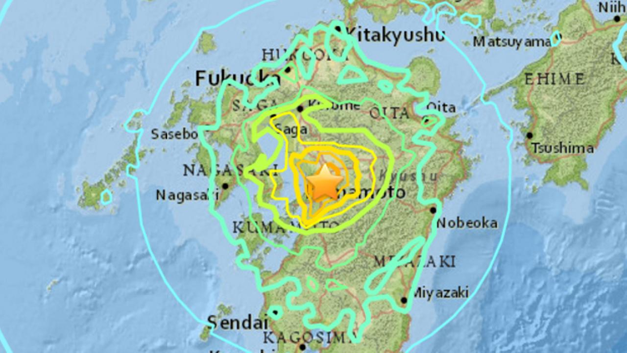A 7.1 preliminary magnitude earthquake has struck southern Japan, Friday, April 15, 2016.