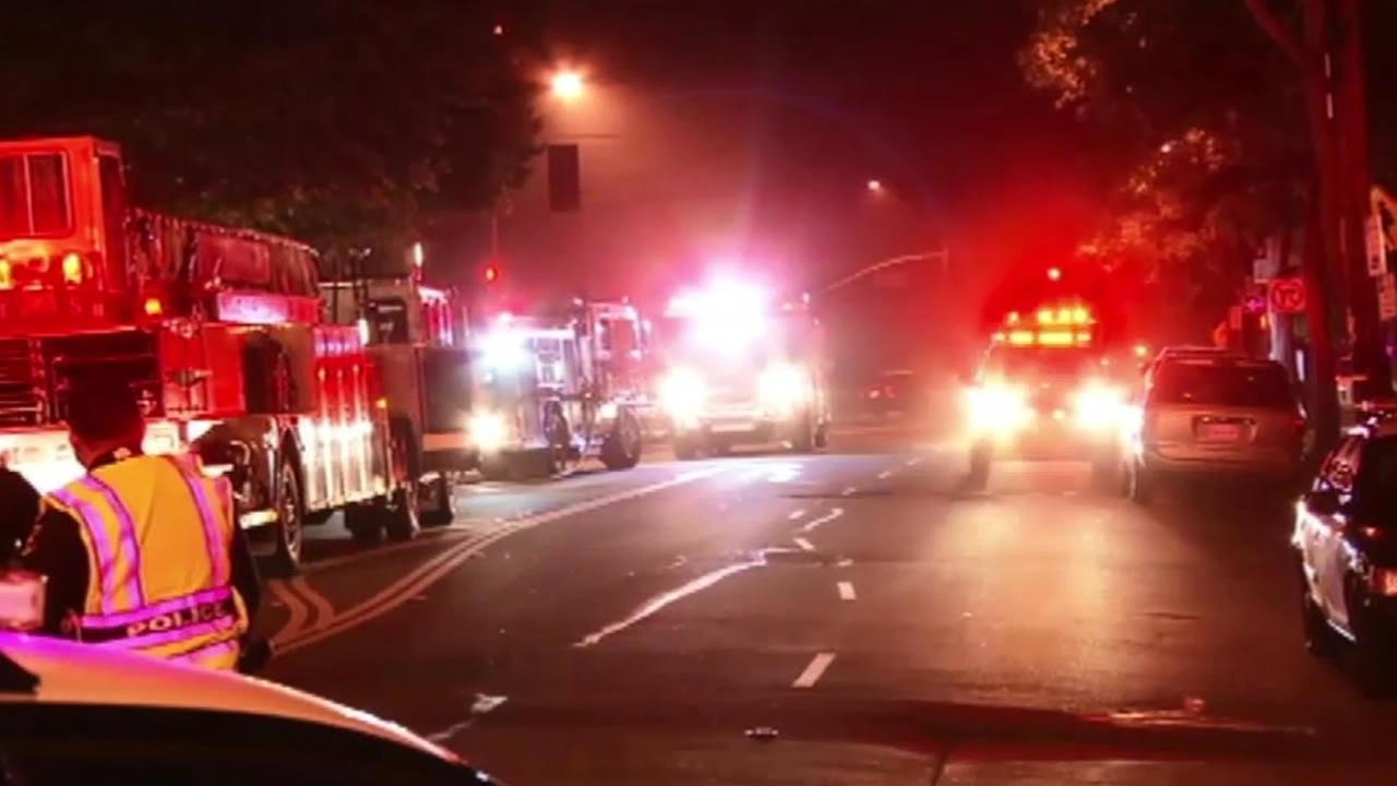 A one-alarm fire at a two-story triplex in Berkeley displaced 10 adults Saturday morning