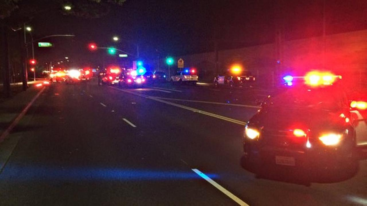 Police are investigating after a fatal shooting prompted the closure of all westbound lanes on Highway 4 at Loveridge Road in Pittsburg, Calif. on Tuesday, April 19, 2016.