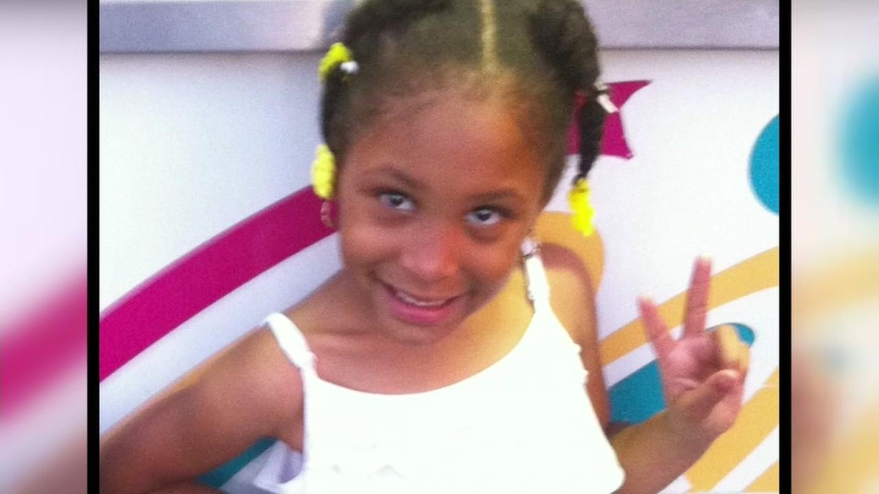 This undated photo shows 8-year-old Alaysha Carradine, who was shot and killed in Oakland, Calif. on July 17, 2013.