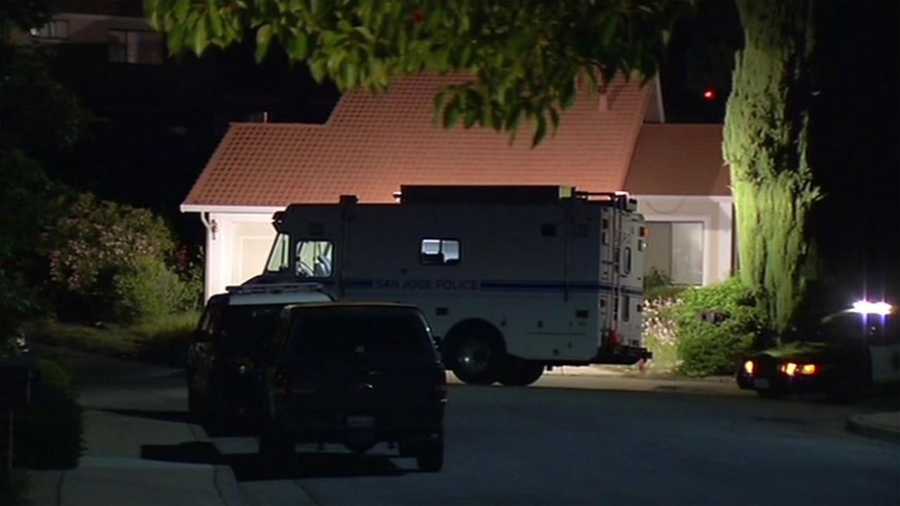 San Jose police are investigating a double homicide on Lucas Court on Monday, April 25, 2016.